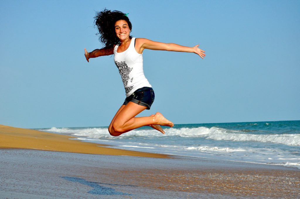 7.woman happy