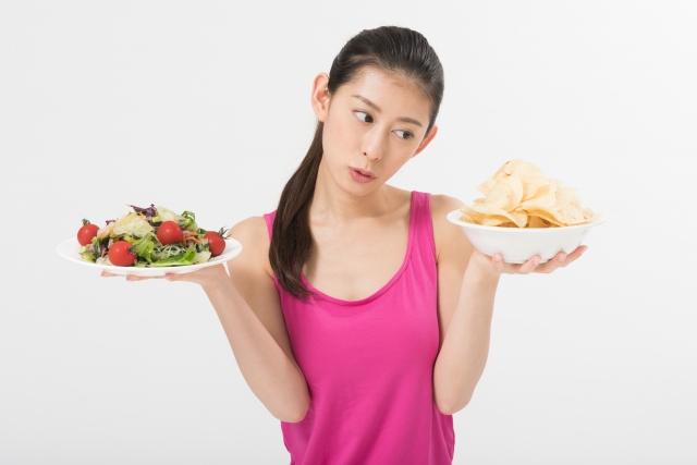 食べるのを我慢しないダイエットがある?食べ物やお菓子はケア次第?